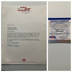 Fred Rogers Mr Mister Rogers Autograph 2000 Typed Signed Letter Psa Free S H Ebay