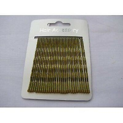 New Pack Of 30 Extra Long 4cm Dark Blonde Kirby Hair Accessory Pins Grips Clips