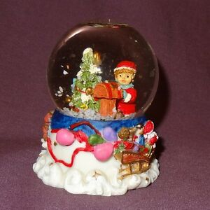 Image Is Loading Santa Claus Small Snow Globe 3 034 Christmas