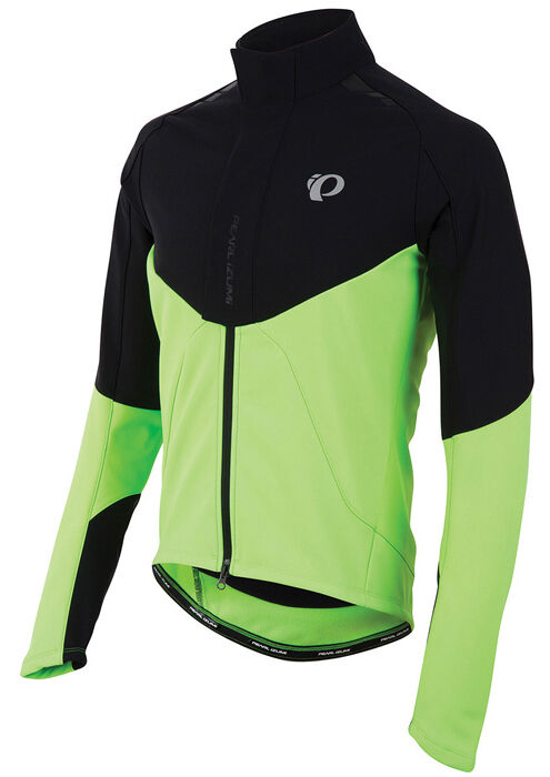 Pearl Izumi pro P. R.o. Softshell Chaqueta Ciclismo Negro Gritando verde Medio