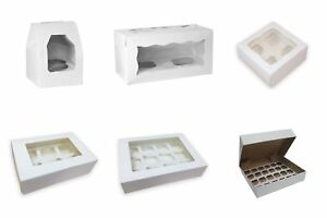Windowed-Cupcake-Boxes-for-1-2-4-6-12-amp-24-Cup-Cakes-with-Removable-Trays