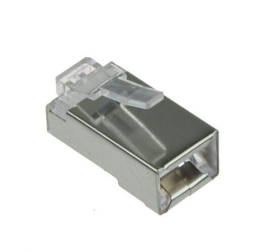 1000 Pcs LOT RJ45 8P8C Network Shielded Modular CAT5 CAT5E Plug Connector STP