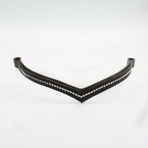 Frente de alta calidad correa cuero//// negro//pedrería//sinuosos//wogati