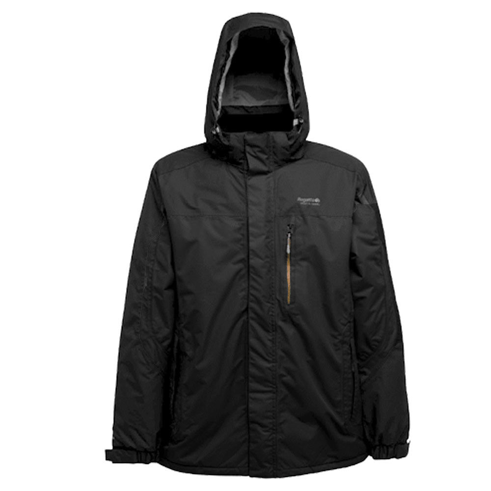 Regatta Chaqueta Lana Toronto para Hombre Impermeable Transpirable  Trabajo Abrigo Con Capucha Negro  mas barato