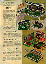 1973 PAPER AD Football NFL Electric Game Jets Falcons Packers Chargers Browns