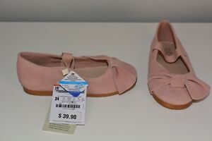 Ballet Pink Size 7.5 Flats Bow Leather