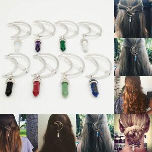 Women-Hair-Clip-Hairband-Hair-Pin-Barrette-Half-Moon-Drop-Hairpin-Head-Jewelry