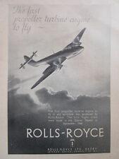 4/1946 PUB ROLLS-ROYCE AERO ENGINES DERWENT RIVER CLASS GLOSTER METEOR AD