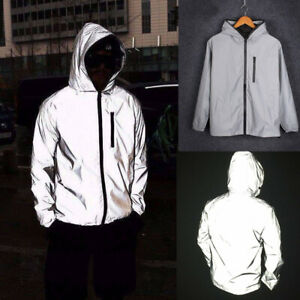 Men-039-s-Waterproof-3m-Super-Reflective-Jacket-Coat-Motorcycle-Night-Safe-Jacket