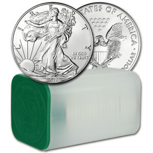 2018 American Silver Eagle (1 oz) $1 - 1 Roll - Twenty 20 BU Coins in Mint Tube