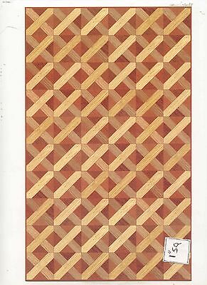 Faux Parquet Wood 34603 floor sheet dollhouse 1pc World & Model card stock