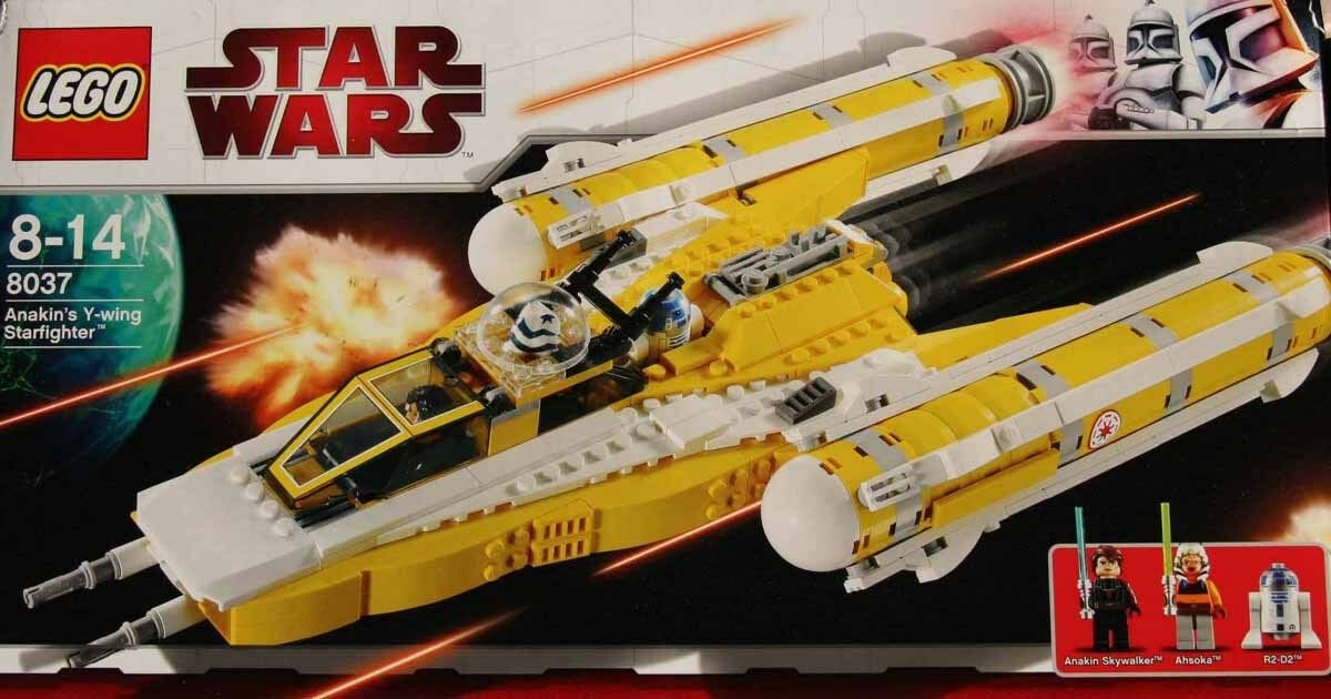 Lego Star Wars  8037 Anakin's Y Wing Starfighter New Sealed