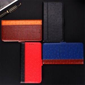 For-Xiaomi-Mi-9-8-Lite-Mix-3-Luxury-Ostrich-Texture-Flip-PU-Leather-Stand-Case