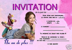 Detalles De 5 O 12 Invitaciones De Cumpleaños Soy Luna Ref 360