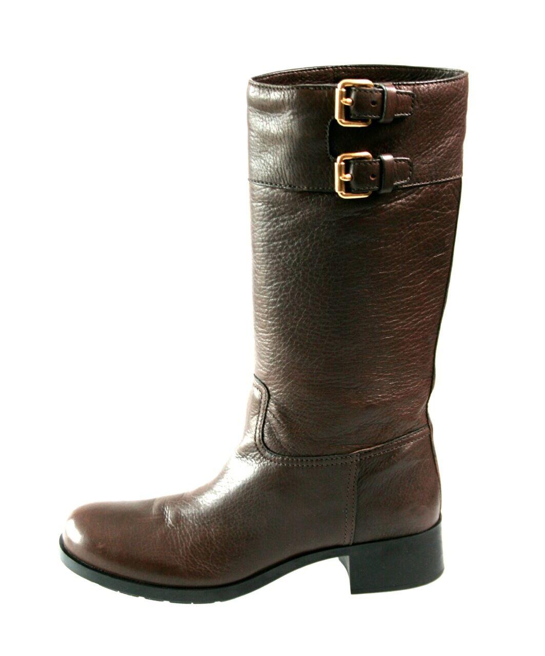 Prada de lujo botas 3w5356 ebano nuevo New 41 41,5