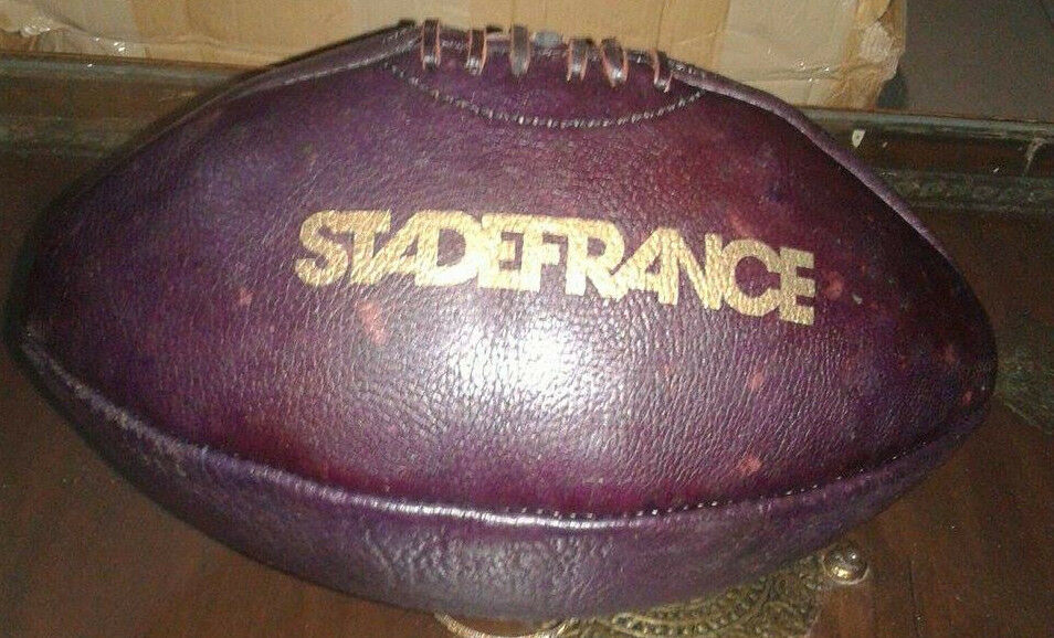 Stade France Vintage Style Football, 4 Panels, Size 5 (Full Size) WATER MELON.