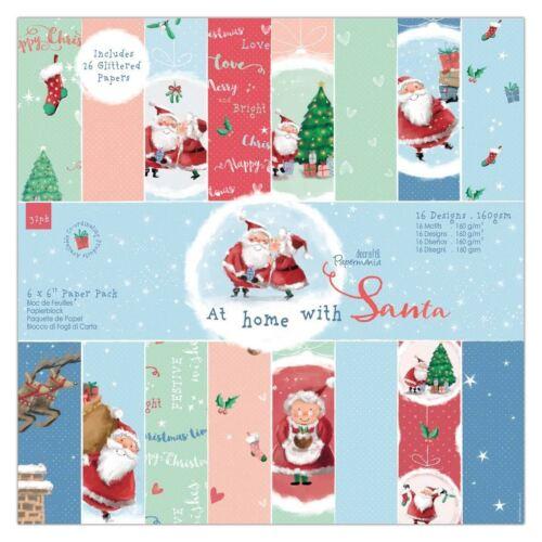 """En casa con Santa /'Papermania Navidad Colección-Paquete de papel 6x6/"""""""