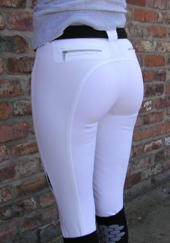 tamaño 12 Equiline Pantalones De Montar De Cedro Blanco 44
