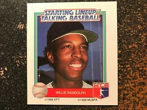 Willie Randolph Yankees 1988 Kenner Starting Lineup Talking Baseball CARD ONLY