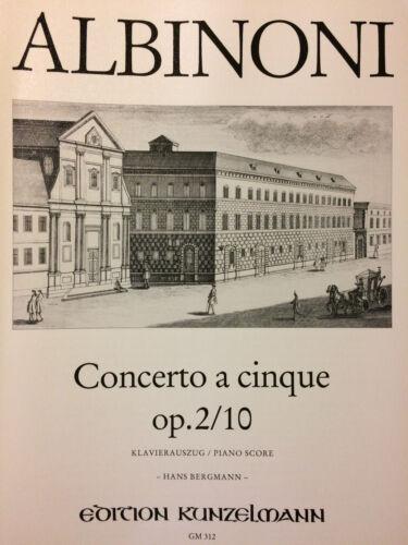 Klavierauszug Concerto Cinque Op.2//10 Albinoni