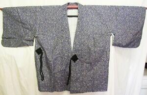Beautiful-Grey-Japanese-Silk-Haori-New-Condition-H400