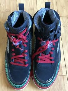 64ce873cc9e2 Nike Air Jordan SPIZIKE Men s Shoes Black Varsity Red Size 12 315371 ...