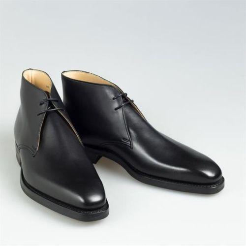 Zapatos de cuero De hombre hecho a mano Negro Botín Chukka hecho a medida para hombre
