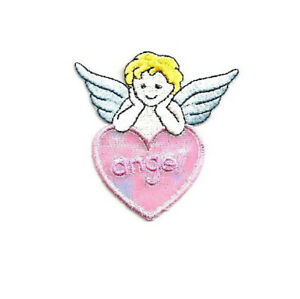 Embroidered Iron On Applique Patch Praying Baby Angel Angel Baptism C