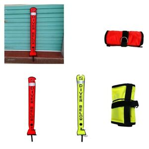 High Visibility Scuba Diving Diver SMB Surface Marker Tube Buoy 6ft 180x15cm