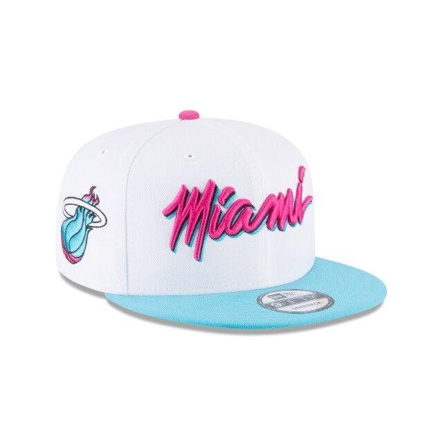 innovative design 159a1 4bd47 Miami Heat Vice New Era 9FIFTY NBA City Edition Snapback Cap South Beach  Hat 950