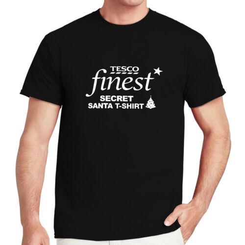 Tesco Valeur Noël Secret Santa T-shirt Femme Homme Enfants Cadeau de Noël Tops...