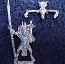 Grupo de comando Beastman 1993 caos abanderado 2 Citadel Warhammer Beastmen