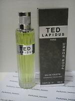 Ted Lapidus Pour Homme Edt For Men 3.33 Oz Eau De Toilette Spray Rare