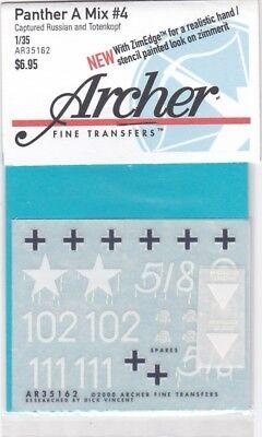 Archer Fine Transfers Ar35162 - Panther A Mix #4 1/35 Saldi Estivi Speciali