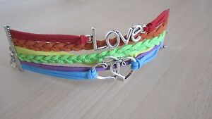 Bracelet  Love to Infinity and Beyond Double Heart - <span itemprop='availableAtOrFrom'>Essex, United Kingdom</span> - Bracelet  Love to Infinity and Beyond Double Heart - Essex, United Kingdom