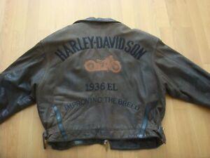 Harley-Davidson-Lederjacke-Vintage-Raritaet-Gr-XL-limited-Edition