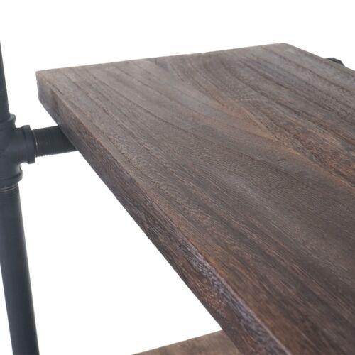 Standregal MCW-C45 Industriedesign 165x80x28cm braun Wohnregal Ablageregal