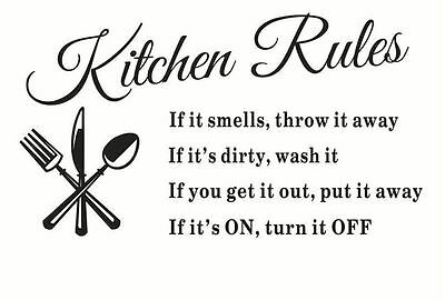 Kitchen Words Wall Stickers Decal Home Decor Vinyl Art Mural New DIY Removable