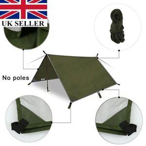 UK Travel Tent Tarp Rain Sun Shade Hammock Shelter Waterproof Camping Picnic Pad