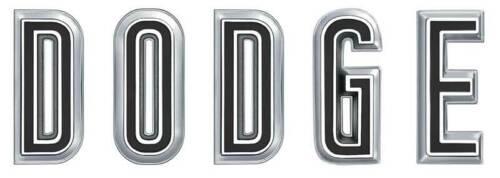 """1967 Charger Coronet Hood Emblem /""""DODGE/"""" Letter Set"""