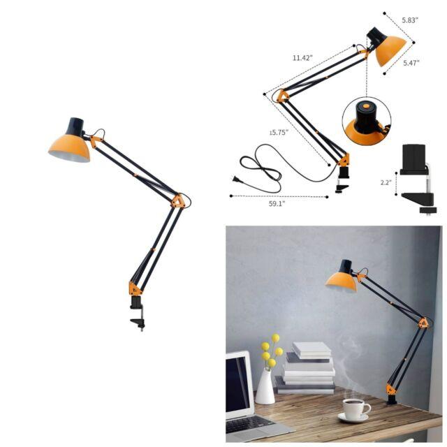 Charmant Swing Arm Desk Lamp Architect Drafting Table Clamp On LED Light Adjustable  Arm B