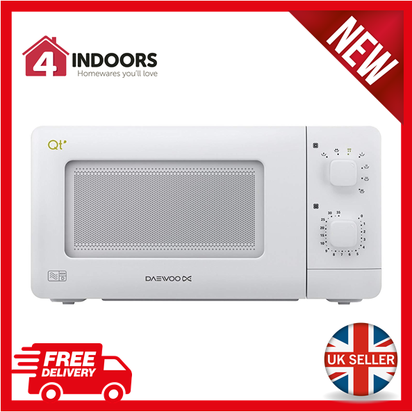 Daewoo Qt1 Compact Microwave Oven 14l 600w White: Daewoo Qt1 Compact Microwave Oven 14 L 600 W