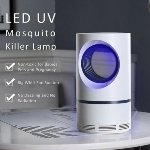 Silent Electric Mosquito Killer Lamp Indoor Fly Bug Insect Zapper Trap LED Light