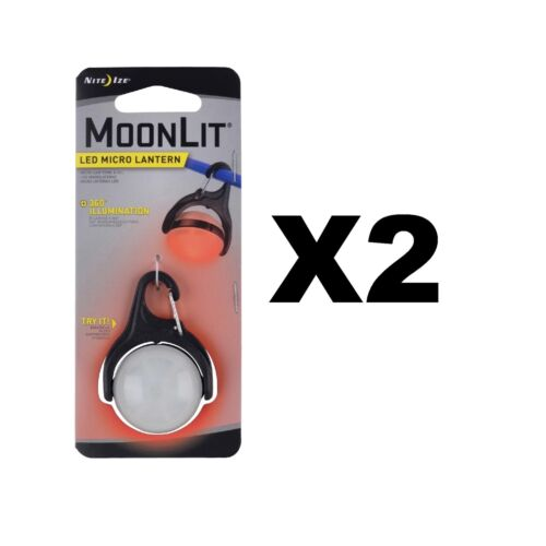 2-Pack Nite Ize MoonLit LED Micro Lantern Red w//Carabiner Clip Tent Light