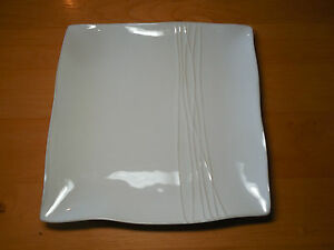 Image is loading Pier-1-SAKUI-Square-Set-of-3-Dinner- & Pier 1 SAKUI Square Set of 3 Dinner Plates Off White 11\