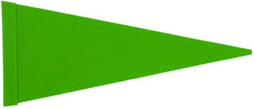 "NEW 2 pk 1//4/""-5//16/"" Sleeve Neon Green Pennant Replacement Flag"