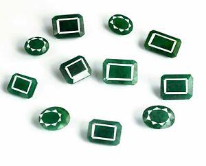 Colombian Emerald 75 Ct 100% Natural Mix Cut Gemstone 11 Pcs Lot AGI Certified