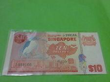 Singapore $10 Bird (UNC) C/27  998166  --  Nice Number  --  Hon Sui Sen