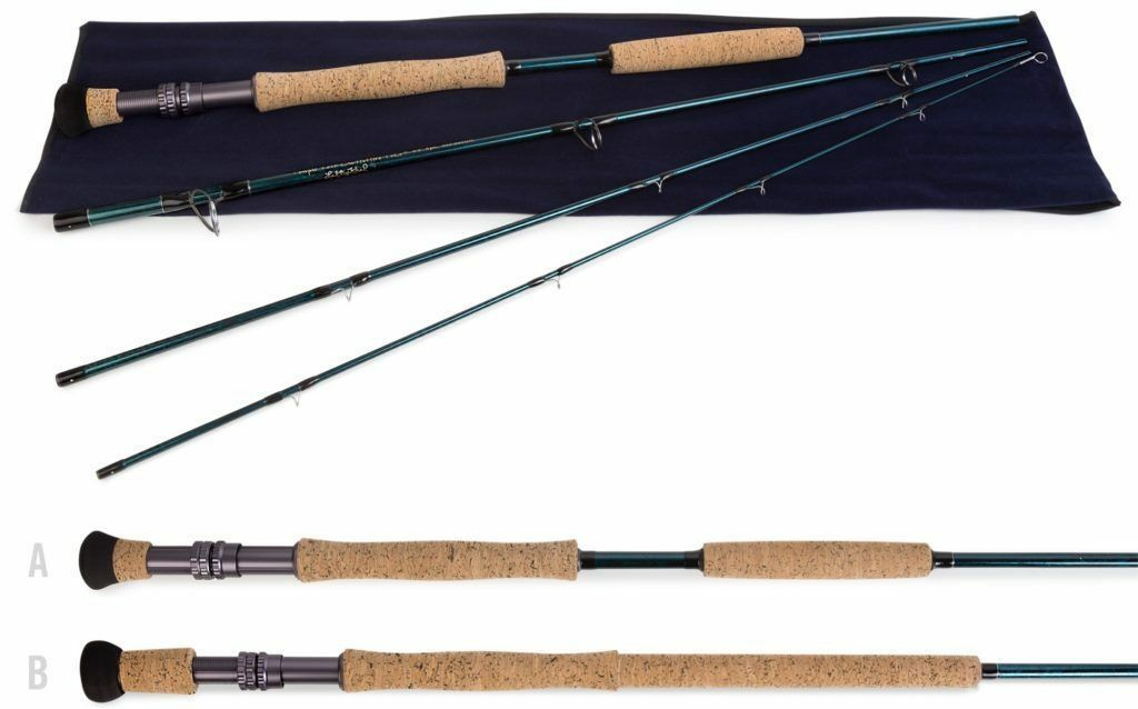 Temple Fork Baby bluee Water Fly Rod 10-12 wt.  9'0  4  pc. LD  quality assurance