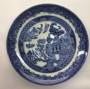 Johnson-Bros-Blue-Willow-China-Vtg-10-034-Dinner-Plate